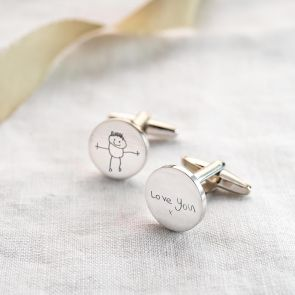 Sterling Silver Handwriting Personalised Cufflinks
