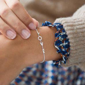 Personalised Sterling Silver Word Bracelet