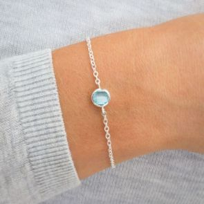 Personalised Carrie Birthstone Bracelet