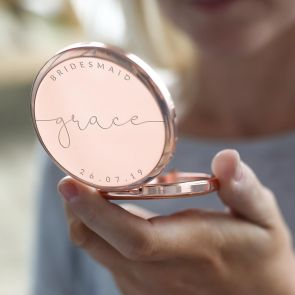 Compact Mirror Personalised with Name, Date and Message