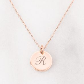 Personalised R Necklace