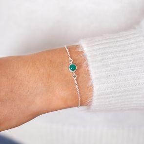 Semi Precious Stone Personalised Bracelet