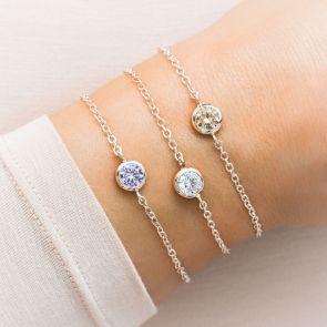 Skinny Personalised Birthstone Bracelet