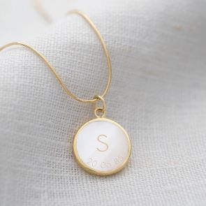 Small Isabella Pearl Personalised Snake Chain necklace
