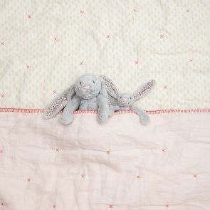 Medium and Small Silver Jellycat Blossom Bunny