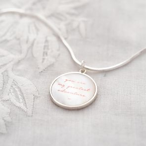 Mother Of Pearl Slider Personalised Necklace
