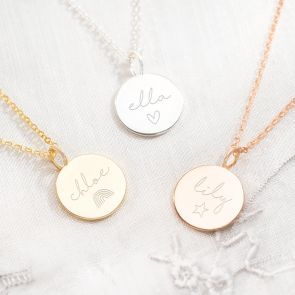Personalised Hope Name Necklace Available in Sterling Silver, Gold Plated Sterling Silver and Gold Plated Sterling Silver