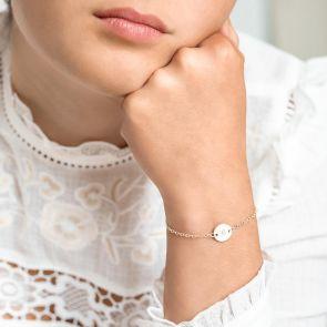 Personalised Sterling Silver Initial Disc Bracelet