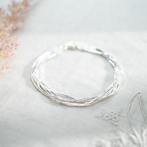 Sterling Silver Multi Strand Personalised Bracelet