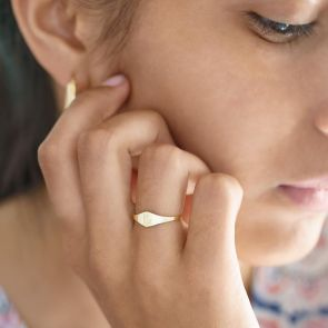 Gold Plated Sterling Silver Signet Ring