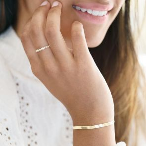 Gold Plated Sterling Silver Twisted Stacking Ring