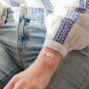 Chakra Personalised Bracelet in Sterling Silver