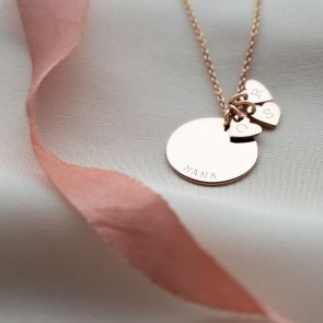Personalised Sterling Silver Heart Family Necklace
