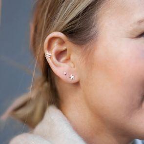 Sterling Silver Line Ear Cuff