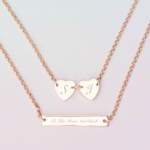 Engraved Susanna Personalised Heart Necklace