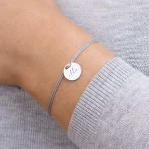 Tara Personalised Initial Disc Statement Bracelet