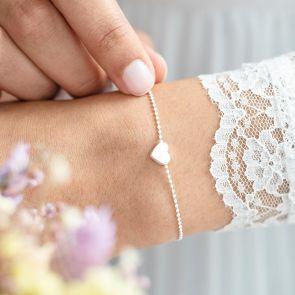 Tertia Heart Personalised Bracelet in Silver