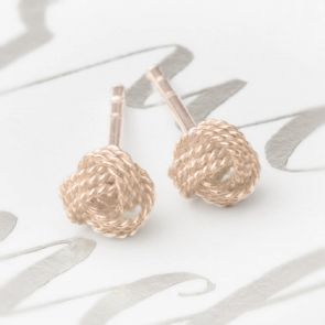 Leola Small Rope Knot Earrings