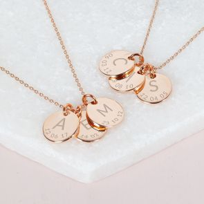 The Triple Initial and Date Personalised Necklace