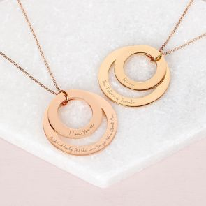 Personalised Double Eternal Ring Pendant Necklace