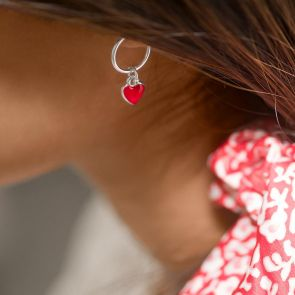 Valentine Heart Heart Hoop Earrings