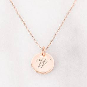 Personalised W Necklace