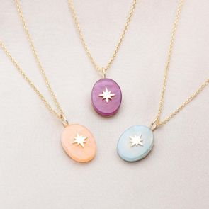 Gold Star Pendant Necklace Available in 5 Colour ways