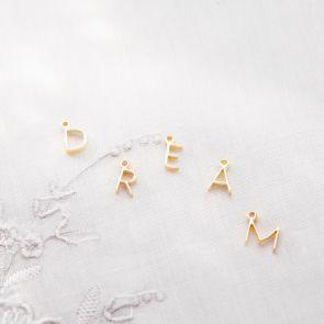 Add a Sterling Silver Contemporary Mini Letter Charm