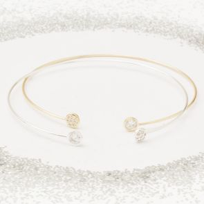 Alana Diamante Circle Personalised Friendship Bangle