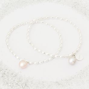 Create Your Own Lila Flower Girl Personalised Bracelet