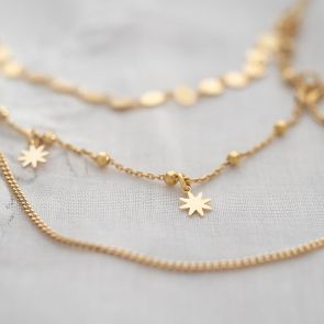 Anoushka Disc and Star Layer Personalised Necklace