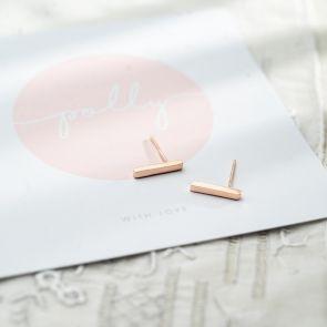 Sterling Silver Minimal Bar earrings
