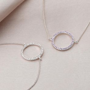 Birthstone Halo Personalised Friendship Bracelet