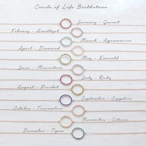 Birthstone Halo Personalised Friendship Bracelet
