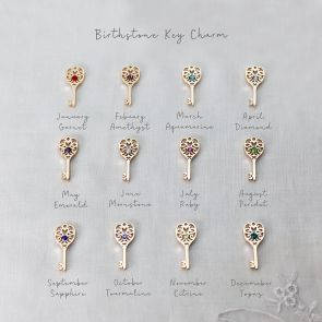 Birthstone Key Personalised Necklace