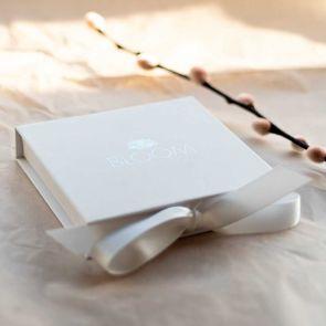 Rae Leaf And Sequin Personalised Bracelet Set