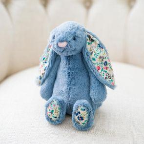 Jellycat Blossom Dusky Blue Bunny