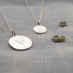 Botanical Initial Personalised Necklace