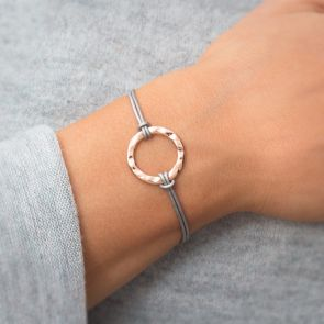Brette Circle Charm Personalised Friendship Bracelet