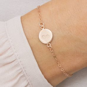 Cara Personalised Initial Disc Friendship Bracelet