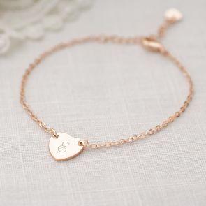 Chloe Initial Heart Personalised Bracelet