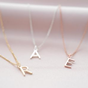 Contemporary Letter Pendant Sterling Silver Personalised Necklace