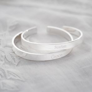 Cora Sterling Silver Personalised Bangle