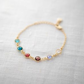 Create Your Own Personalised Family Birthstone Bracelet