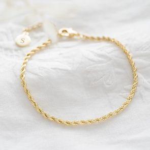 Rope Chain Personalised Bracelet