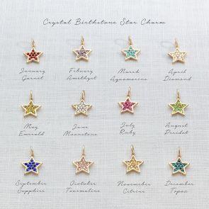 Add a Crystal Birthstone Star Charm