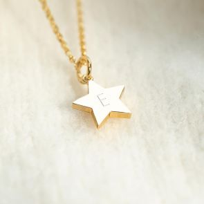 Crystal Birthstone Star Personalised Necklace