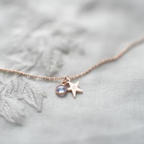 Eliza Star Personalised Birthstone Bracelet