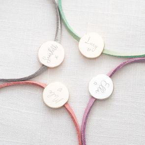 Ella Personalised Disc Friendship Bracelet