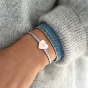 Ella Personalised Heart Friendship Bracelet